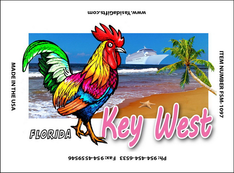 ROOSTER WITH SHIP FLAT MAGNET 12PC * UOM: dozen (dz)* Minimum Order: 1